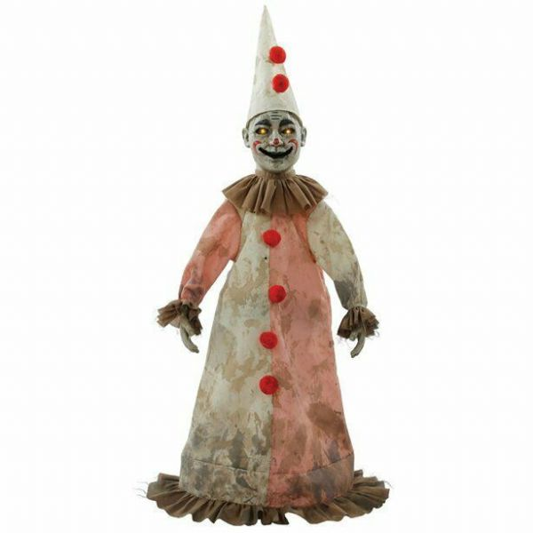 Halloween Creepy Antique Clown Animated Figure (81cm)